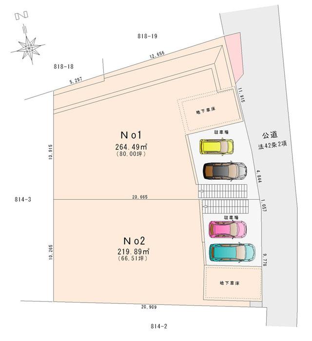 土地の区画図